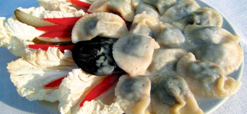 Pierogi z kapustą i grzybami według Pięciu Przemian