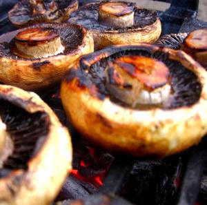 grillowane pieczarki